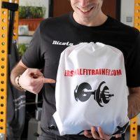la gadget bag personalizzata da personalfitrainer milano