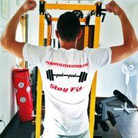 t-shirt uomo personalizzata personal fit trainer milano