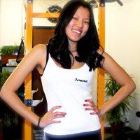 il top donna personalizzato con il proprio nome da personal fit trainer studio milano
