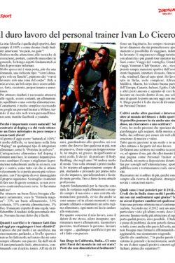 Articolo Sport Duemila articolo Ivan Lo Cicero personal trainer 2013