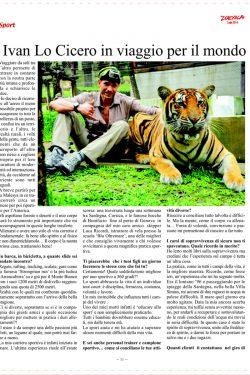 la seconda pagina dell'articolo di sport dumeila dedicato a ivan lo cicero personal trainer