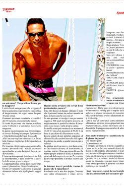 la terza pagina dell'articolo dedicato a ivan lo cicero personal trainer
