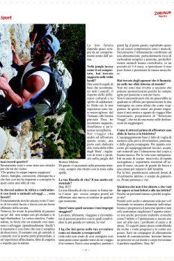 l'ultima pagina dell'articolo dedicato a ivan lo cicero personal trainer